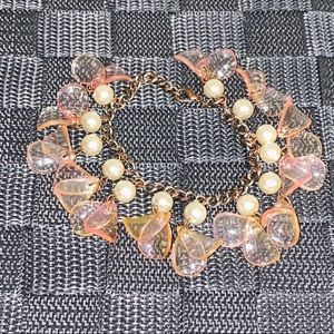 Fashion Bracelet With Dangling Pearls